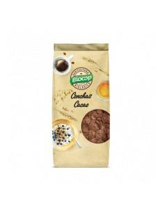 Conchas crujientes de cereales con chocolate Biocop