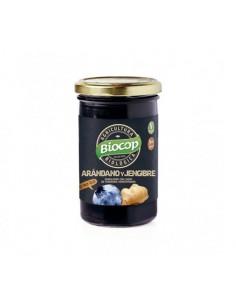 Compota de arándanos y jengibre bio 280g Biocop