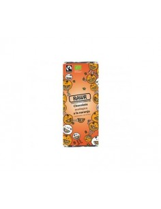 Chocolate ecológico crudivegano a la naranja 60g Rawr