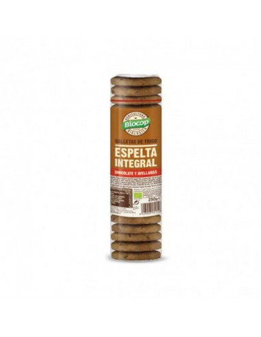 Galleta espelta integral chocolate avellana bio Biocop