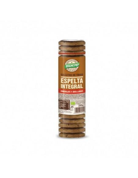 Galleta espelta integral chocolate avellana bio 250g Biocop