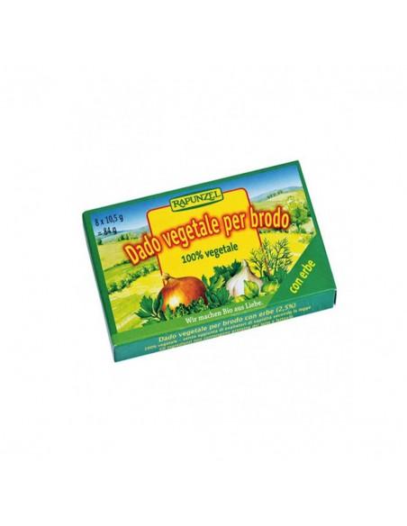 Caldo de verduras con hierbas en Cubitos bio Rapunzel