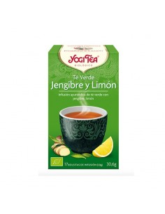 Yogi Tea Té Verde Jengibre-limón bio