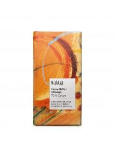 Chocolate orgánico 70% cacao con naranja Vivani