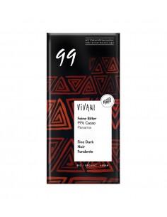 Chocolate negro orgánico 99% cacao Panamá Vivani