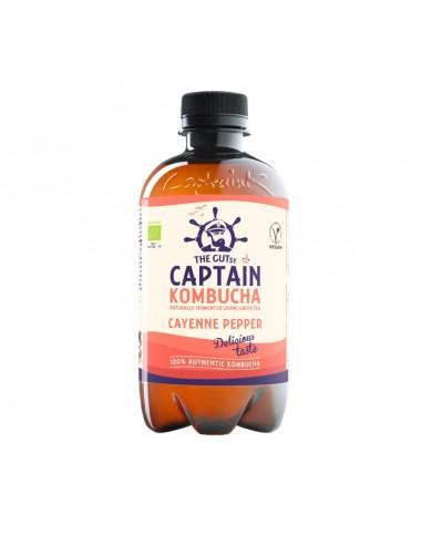 Bebida de Kombucha bio Cayenne Pepper Captain Kombucha