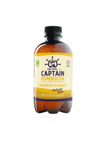 Bebida de Kombucha bio Pineapple Peach Splash Captain Kombucha